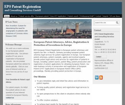 EPO Patent Registration and Consulting Services GmbH