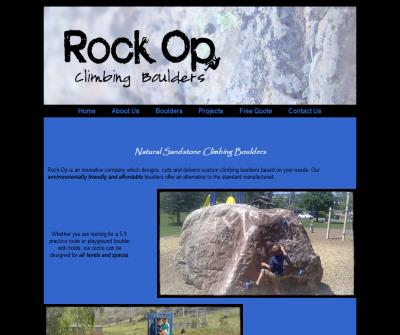 Rock-op climbing boulders and playgrounds