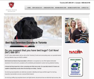 Toronto Bed Bugs Inspection - K9 bed bug detection dogs Toronto