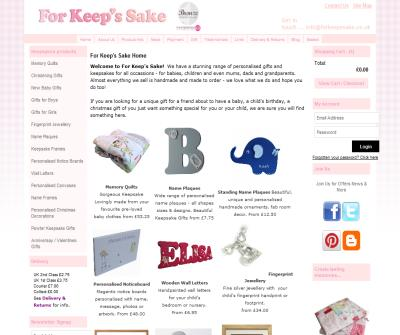 For Keep's Sake - Personalised Gifts