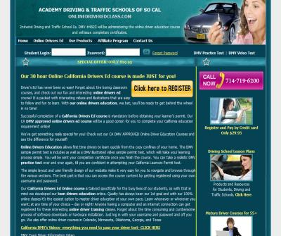 Online Driver Education Providers California