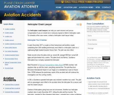 Helicopter crashes lawsuit