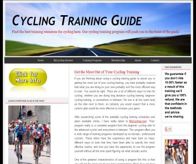 Cycling Training Software