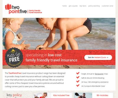 Twopointfive Family Travel Insurance