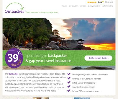 Outbacker Backpacker Travel Insurance