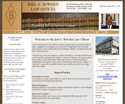 Joel G. Bowden Law Offices