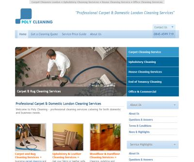 Carpet Cleaning London, Domestic & House Cleaning Services
