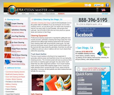 Upholstery Cleaning San Diego | USACleanMaster.Com