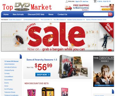 Selling Cheap DVD to US in Online DVD Market—Topdvdmarket.com