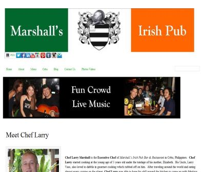 Philippines Food Chef Larry Marshall Irish Pub Restaurant