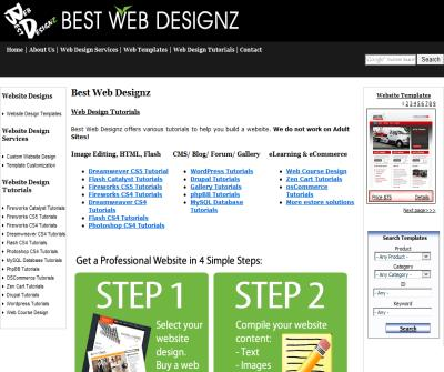 Web design and development, free tutorials on web design & free web resources.