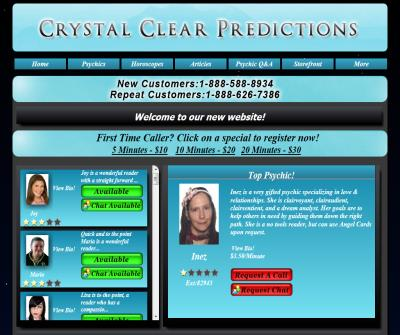 Crystal Clear Predictions Psychic Line