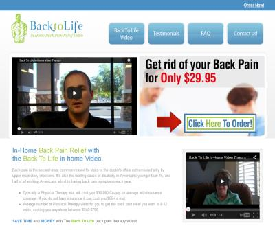 Find Back Pain Relief at BackToLifeVideo.com