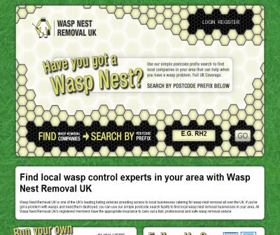 Wasp Nest Removal UK