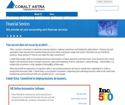 Cobalt Astra, Online Human Resources software and outsourcing