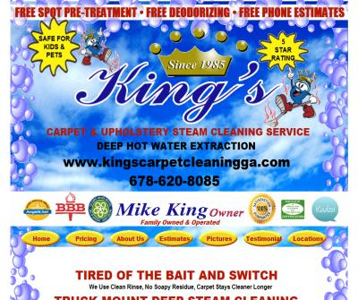 King's Carpet & Upholstery Steam Cleaning Service
