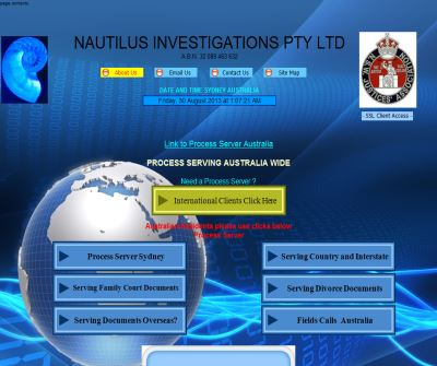Process Server Australia - Nautilus Investigations, Sydney, New South Wales
