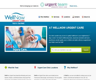 WellNow Urgent Care: Walk in sick, get well quick. No appointment necessary, open 7 days week.