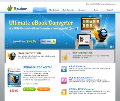 Epubor DRM Removal Softwares