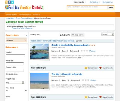 Galveston vacation rentals, Galveston condo rentals, Galveston beach house rentals