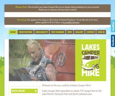 Lakes VW Camper Hire