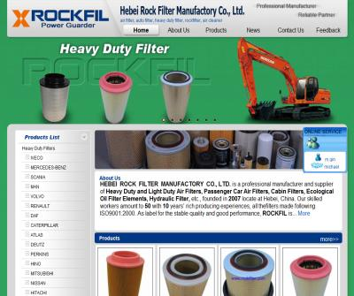 air filter   china auto filter  heavy duty filter Manufacturers rockfilter supplier —Hebei Rock Filter Manufactory Co., Ltd.