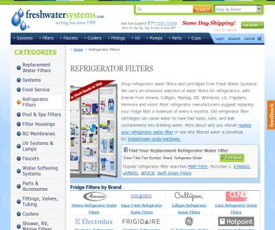 Refrigerator filters – Replacement water filters