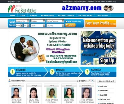 a2zmarry World No 1 Matrimonial Website