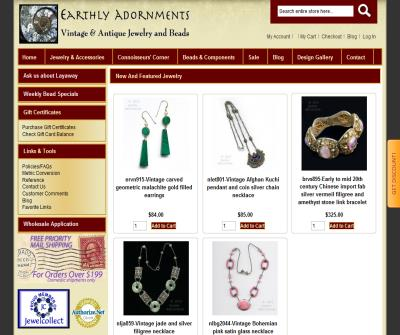 Earthly Adornments Vintage Jewelry and Beads
