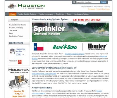 Houston Landscaping and Sprinkler Systems