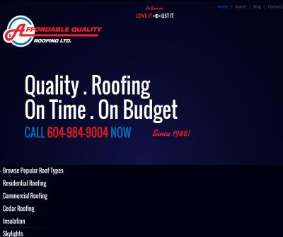Affordable Quality Roofing Ltd.