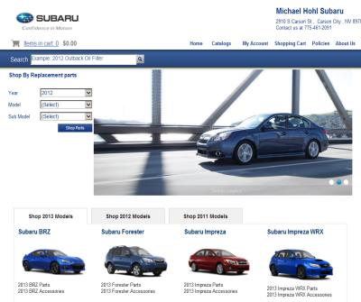 Subaru Accessories at Great Prices