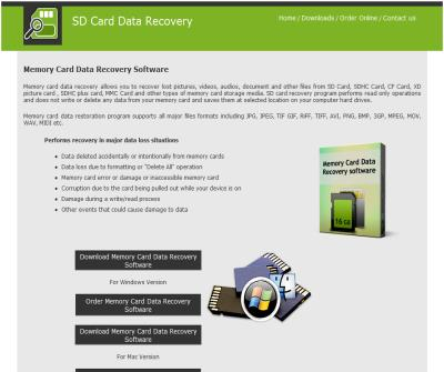 Data recovery of memory card