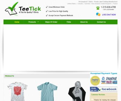 TeeTick - Private Label Clothing Manufacturer