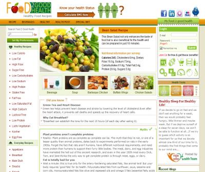 Healthy Food Recipes, Healthy Recipes, Health Articles: Food2GoodHealth