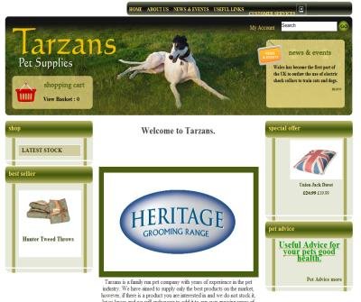 Tarzans: Pet Shop UK | Pet Accessories Supplies | Pet Grooming Supplies in West Sussex