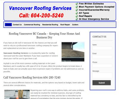 Roofing Company in Vancouver