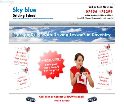 Driving Lessons Coventry - Learn to Drive in Coventry with Sky Blue Driving School Coventry