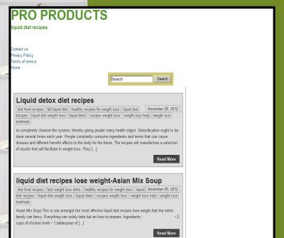 PRO PRODUCTS - liquid diet recipes