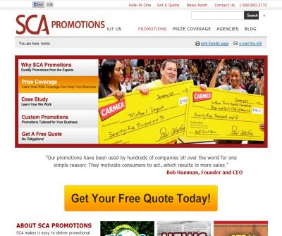 SCA Promotions - Prize coverage and HIO Insurance