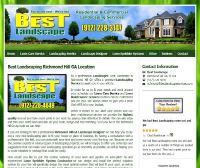 Landscaping Richmond Hill GA by Best Landscape