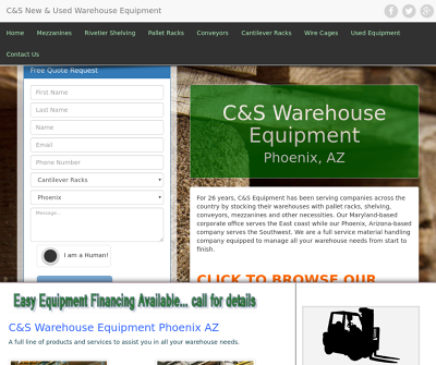 C&S New & Used Warehouse Equipment Phoenix AZ