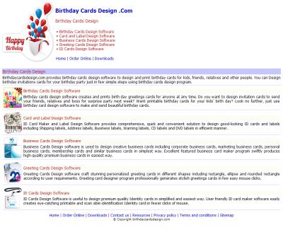 Design print Birthday Cards