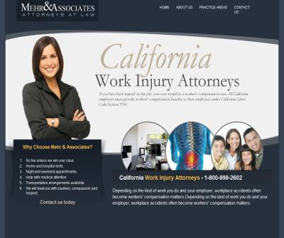 CA Work Injury Attorneys Mehr & Associates