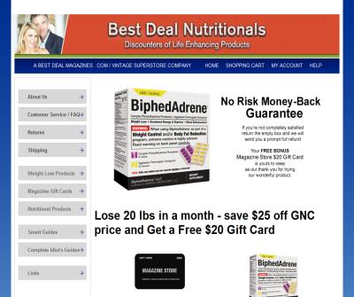 Best Deal Nutritionals, Inc.