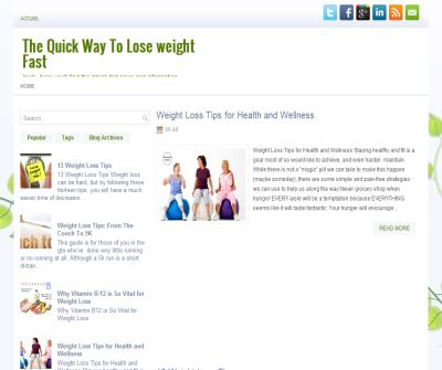 The Quick Way To Lose weight Fast