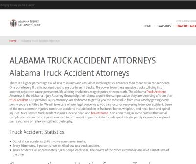 Alabama trucking accident lawyers