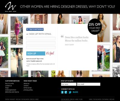Wish Want Wear - dresses for hire