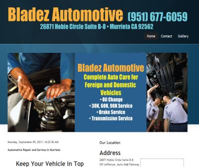 Auto Repair, Brake Repair, Tune Ups, Oil Change, Vehicle Maintenance & Transmission Repair
