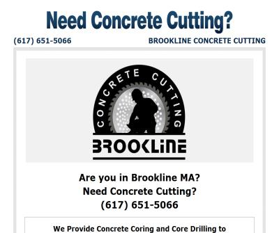 Brookline Concrete Cutting